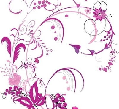 floral background violet curves decoration classical style