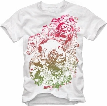t shirt decoration design horror grunge style