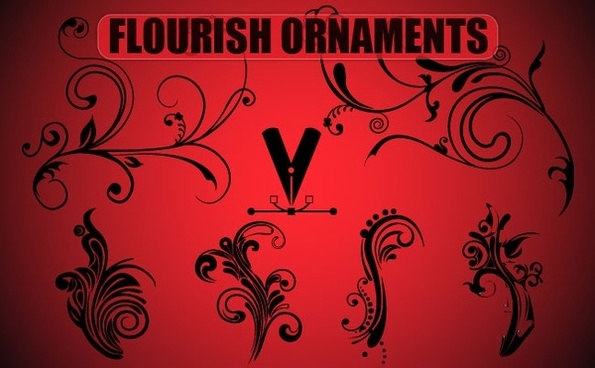 Free Flourish Ornaments