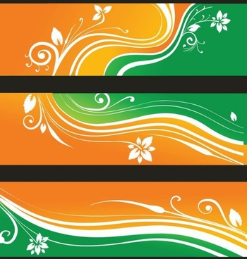 Free Flower Banners Vector Illustration