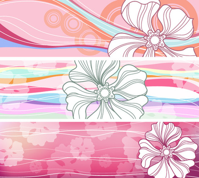 free flowered banners