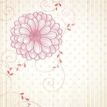 Free flowers vectors background