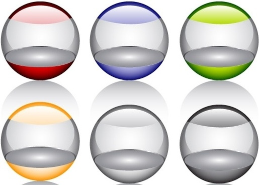 Free Glossy orbs Vector Icon