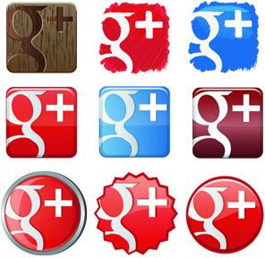 free google1 plus icon set