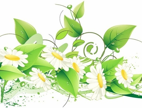 free green floral vector illustration