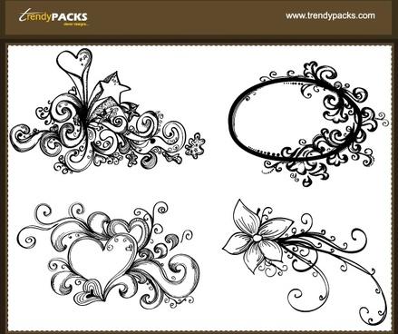 Free Hand Drawn Vector Ornaments
