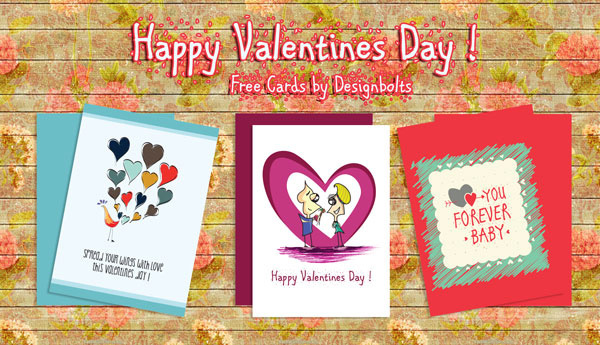 free happy valentine day card designs