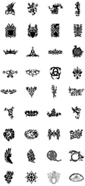 Free heraldry vector sets