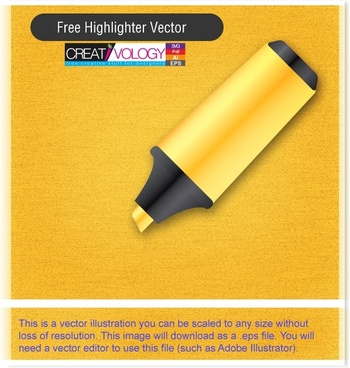 highlight pen advertising background shiny black yellow decor