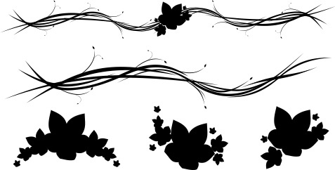 Free Horizontal Floral Ornaments