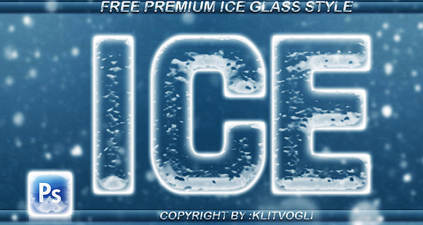 free ice glass style