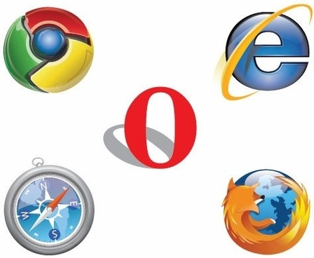 Free IE Chrome Firefox Safari Opera Logo Vector