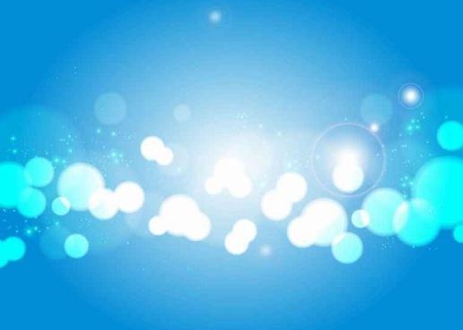 Free Light Blue Bokeh Vector Background