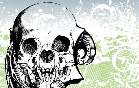 Free Money skull Vector