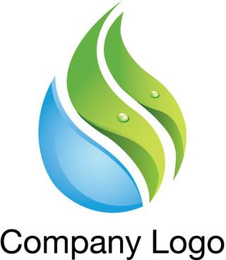 free natural water leaf logo