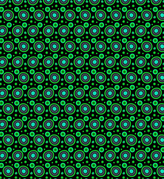 free neon abstract circle and petal pattern