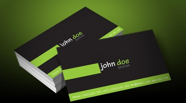 free personal business card template