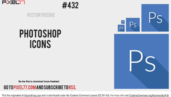 free photoshop icon vector