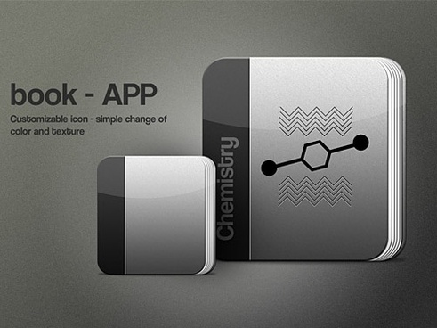 Free PSD Book App Icon