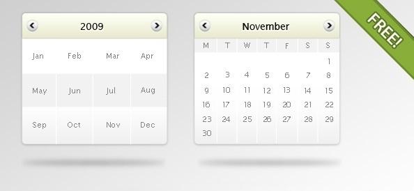 Free psd Calendar mockup