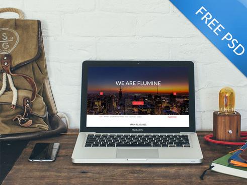 free psd multipurpose landing page