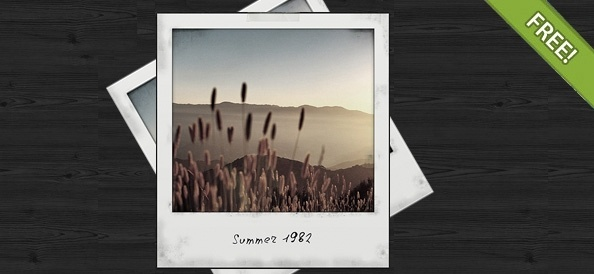 Free PSD Polaroid Photo Frame