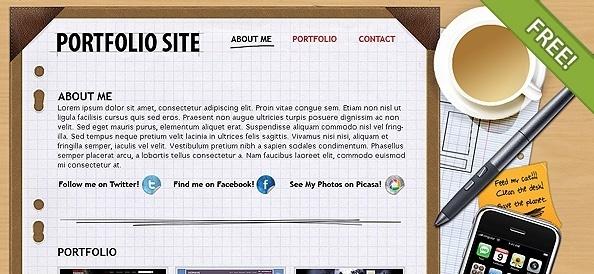 Free PSD Portfolio Layout