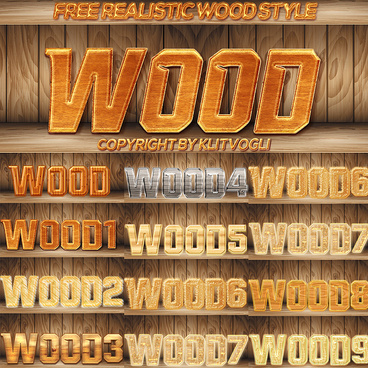 free realistic wood style