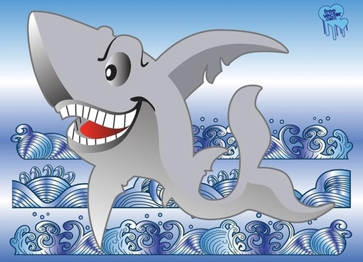 free shark vector cartoon