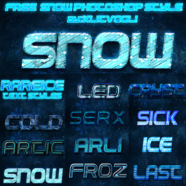 free snow photoshop style