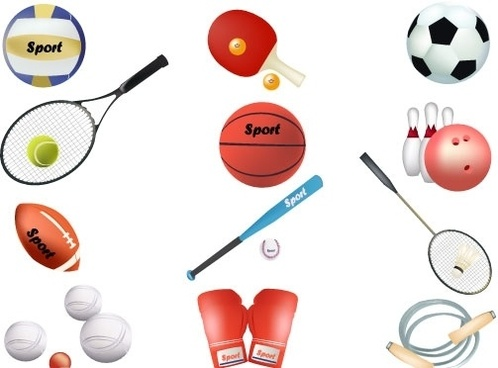 Free sports vector equipment