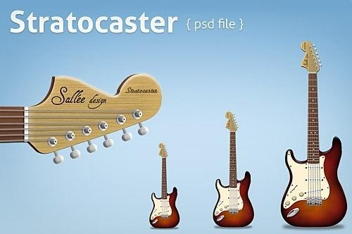 Free Stratocaster PSD File