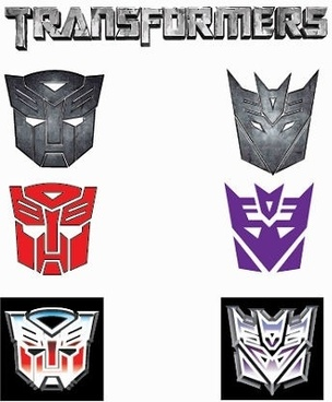 transformers masks icons collection various colored sketch