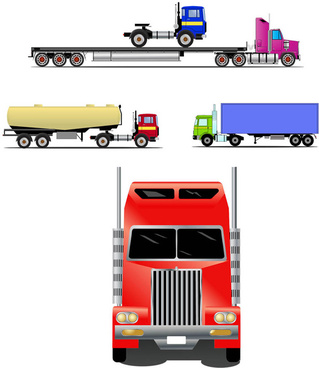 Free trucks and trailers vector