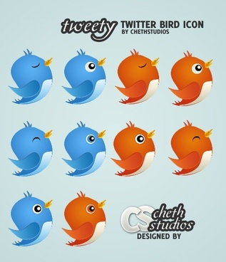 Free Twit ter Bird Icon pack icons pack