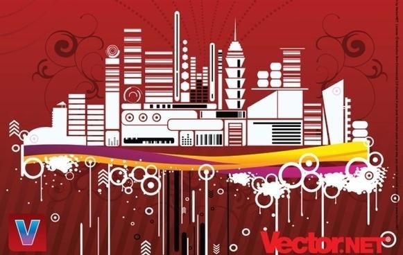 Free Urban City Vector Illustration