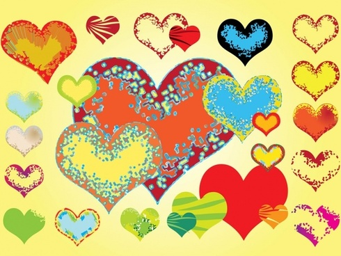 Free Valentine Hearts Vectors