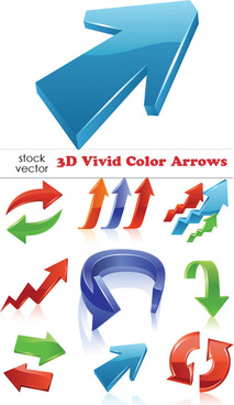 free vector 3d color arrows