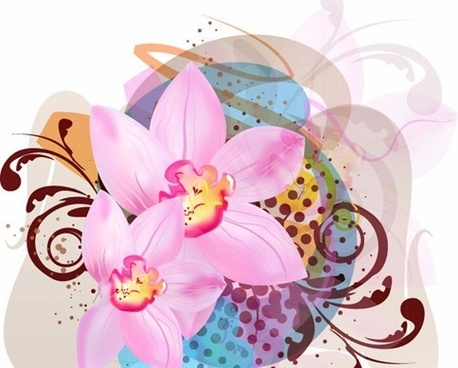 free vector abstract flower