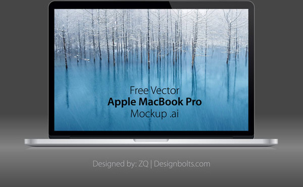 free vector apple macbook pro mockup
