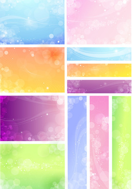 free vector banner and backgrounds
