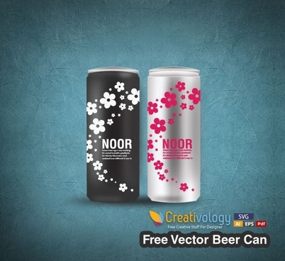 beer advertising banner realistic can icons decor