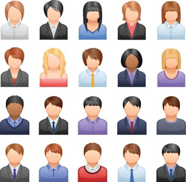 Free Vector Business People Icons