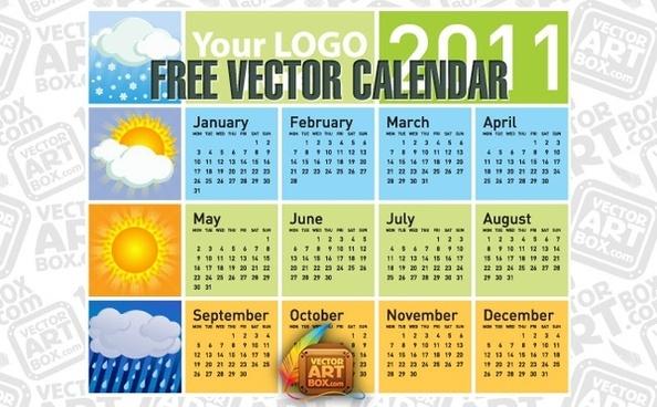 Free Vector Calendar