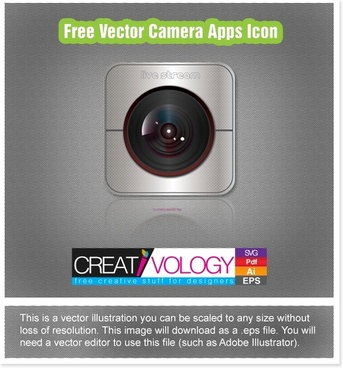 Free Vector Camera Apps Icon