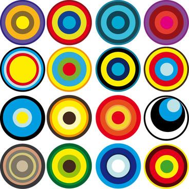 free vector circle shapes