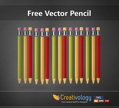 pencils background colorful realistic icons