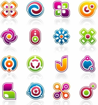 Free Vector Colorful Business Design Elements
