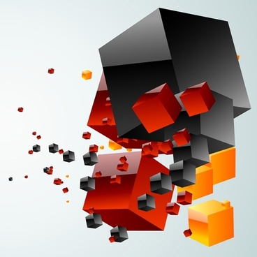Free Vector Colorful Cube