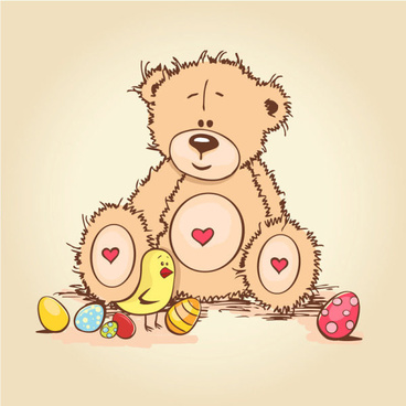 free vector cute cartoon little bear